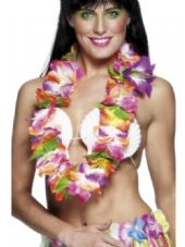 Brightly Coloured Hawaiian Flower Lei
